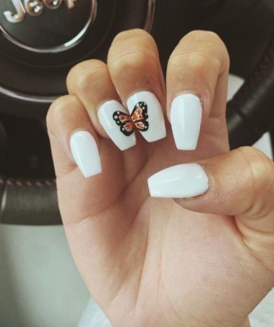 20 Nail Designs With Butterfly Decorations That Will Inspire You 5