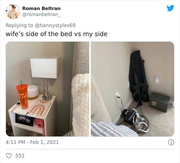 su lado de la cama mi lado de la cama