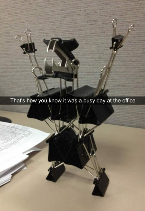 fotos divertidas en el trabajo