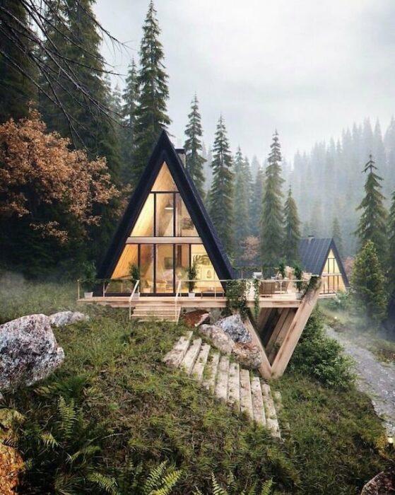 cabañas en el bosque