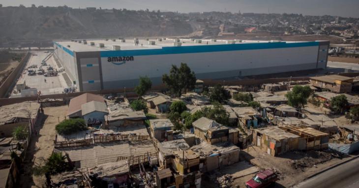 amazon tijuana 730x384 #Amazon abre un almacén de lujo en una de las zonas más marginadas de Tijuana; así se ven los contrastes