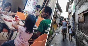 Padre soltero conmueve al mundo: lleva a sus hijas a comer y él las ve; tenía poco dinero