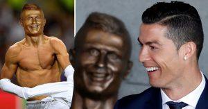 Homenajean a CR7 con este extraño busto y los MEMES desatan las burlas en Internet