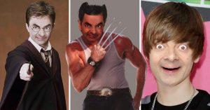 Esto pasa cuando pones la cara de Mr. Bean en todas partes; el resultado es muy divertido