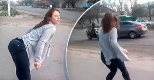 VIDEO: sexi chica hace 'twerking' en plena avenida y provoca un fatal accidente de tránsito
