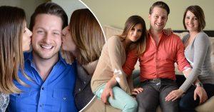 Vive con dos mujeres, en una misma cama, lo llaman 'El hombre con más suerte del Mundo'