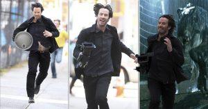 Keanu Reeves se roba la cámara de un paparazzi y huye; Internet lo premia con MEMES