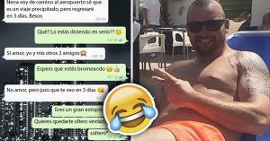 Le avisó a su novia que iba con sus amigos por una cerveza y terminó en Ibiza… #Respect