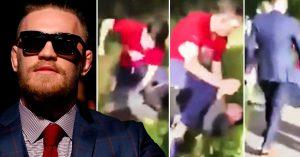 Un abusivo golpeaba a un niño; McGregor apareció, lo persiguió y la pequeña mierda huyó