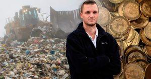 Tiró a la basura un disco duro que tenía millones de dólares en bitcoins; ahora lo está buscando