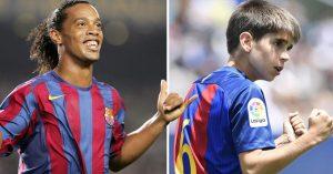 Las inferiores del Barcelona tienen al nuevo Ronaldinho; un niño que hace sus mismas jugadas