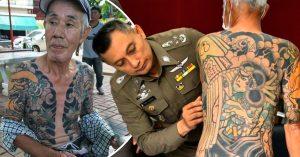 Detienen a un exmiembro del clan Yakuza; sus tatuajes lo delataron y se hicieron virales