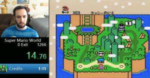 Terminó el Super Mario World en menos de 1 minuto por un bug que nadie había visto