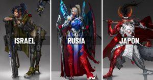 Así lucirían estos 10 países si fueran personajes de acción; Rusia es hermosa pero fría