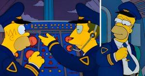 Homero Simpson aparece en un vuelo de Argentina para dar indicaciones de seguridad