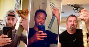 """Se quiso ver """"rudo"""" y se toma una Selfie con un Arma; pero todo Internet se burla de él"""