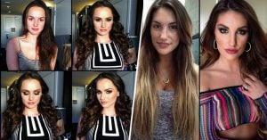 Maquillista muestra el antes y después de estas 30 actrices porno