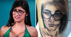 Mia Khalifa acaba con las ilusiones de un fan que se tatuó su cara en la pierna