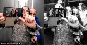 El impactante trabajo de un artista judío para exhibir a los turistas maleducados